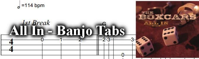 All In - Banjo Tabs